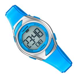 Calypso Digitaal Kinderhorloge Alarm Chrono 10ATM 29mm Staal Blauw