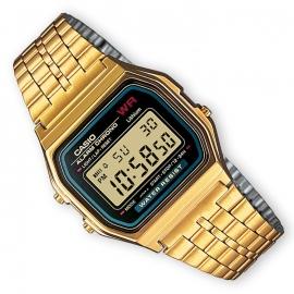 Casio Alarm Chrono Digitaal Horloge Goud 34mm