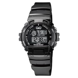 Q&Q Digitaal 5 Alarmen Horloge 10 ATM Zwart