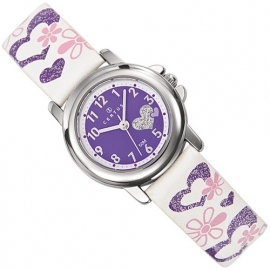 Certus Meisjes Horloge Hartjes 26mm Wit