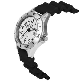 Prisma Pro Diver RVS Duikhorloge 100m Datum Zwart/Wit