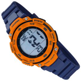 Calypso Digitaal Stopwatch Kinderhorloge 10ATM 37mm Blauw/Oranje