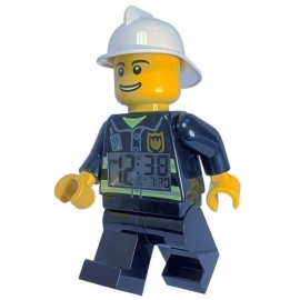 LEGO City Brandweerman Wekker 20cm