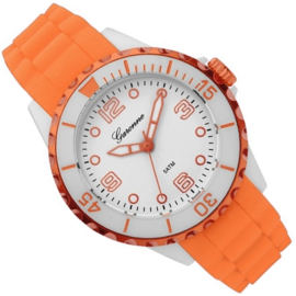 Garonne Sportief Kinderhorloge Oranje Wit 36mm
