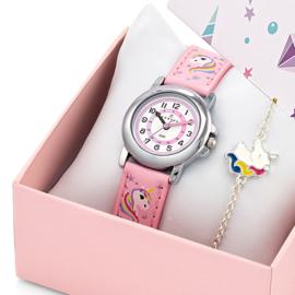 Certus Giftset Unicorns - Horloge met Armband 26mm Roze
