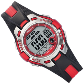 Tekday Digitaal Stopwatch Horloge Alarm 100m Rood