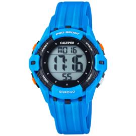 Calypso Kinderhorloge Alarm-Chrono 10 ATM 37mm Blauw