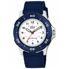 Lorus Sports Horloge Nylon Band Blauw 35mm