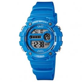 Q&Q Pro-Sport Digitaal Alarm-Chrono Horloge 10 ATM Blauw