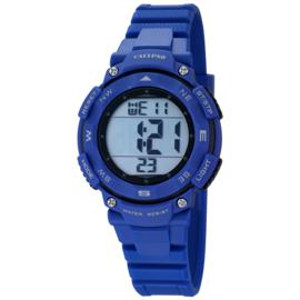 Calypso Digitaal Stopwatch Kinderhorloge 10ATM 37mm Blauw