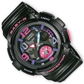 Casio Baby-G Dual Dial World Time Ana-Digi Zwart