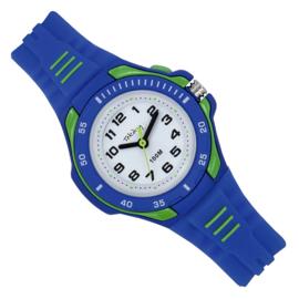 Tekday Kinderhorloge met Wijzerplaatverlichting 100m Blauw