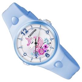 Calypso Eenhoorn Horloge Wijzerplaatverlichting 32mm Lichtblauw