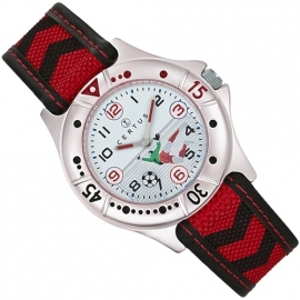 Certus Jongens Horloge Voetbal Keeper met Bal Rood 35mm