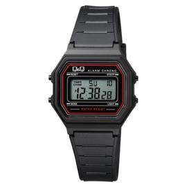 Q&Q Kinderhorloge Digitaal Stopwatch Alarm Zwart Rood 34mm