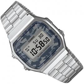 Casio Alarm Chrono Digitaal Horloge Camo Grijs 35mm
