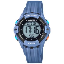 Calypso Kinderhorloge Alarm-Chrono 10 ATM 37mm Blauwgrijs