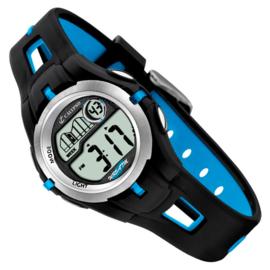 Calypso Digitaal Kinderhorloge Stopwatch Alarm 34mm Lichtblauw