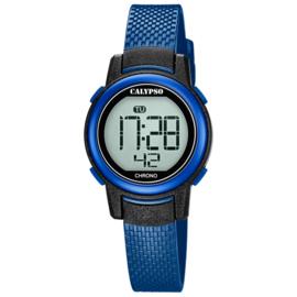Calypso Digitaal Kinderhorloge Alarm Stopwatch 10ATM 29mm Blauw