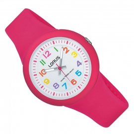 Lorus Happy Numbers Kinderhorloge 100m Roze