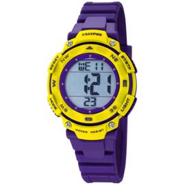 Calypso Digitaal Stopwatch Kinderhorloge 10ATM 37mm Paars/Geel