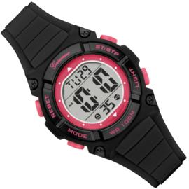 Garonne Digitaal Meidenhorloge 10ATM Zwart-Roze 34mm