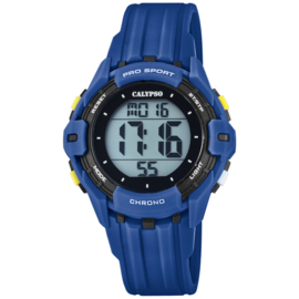 Calypso Kinderhorloge Alarm-Chrono 10 ATM 37mm Donkerblauw