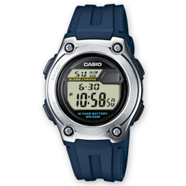 Casio Digitale Alarm Chronograaf GMT Blauw 37mm
