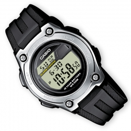 Casio Digitale Alarm Chronograaf GMT Zwart 37mm