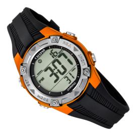 Calypso Digitaal Kinderhorloge 3 Alarmen Stopwatch 10ATM 35mm Oranje