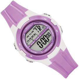 Tekday Digitaal Sporthorloge Alarm 100m Lila Wit