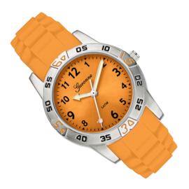 Garonne Rubberen Schakelband Oranje Kinderhorloge 29 mm