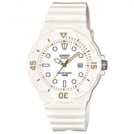 Casio Kinderhorloge met Datum 100m Wit / Goud 33mm