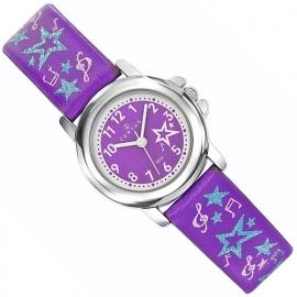 Certus Meisjes Muziek Horloge 26mm Paars