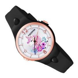 Calypso Eenhoorn Horloge Wijzerplaatverlichting 32mm Zwart