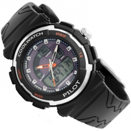 Coolwatch Analoog-Digitaal Kinderhorloge Pilot Blue Black