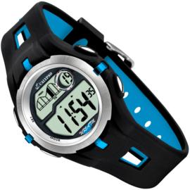 Calypso Digitaal Tienerhorloge Stopwatch 2 Alarmen 42mm Lichtblauw