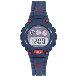 Tekday Digitaal Kinderhorloge 100m Blauw & Rood