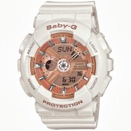 Casio Baby-G Analoog Digitaal Wit Goud - 5 Alarmen