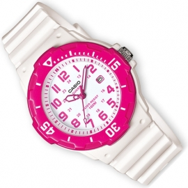 Casio Kinderhorloge met Datum 100m Wit / Roze 33mm