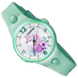 Calypso Eenhoorn Horloge Wijzerplaatverlichting 32mm Zeegroen
