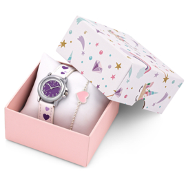 Certus Giftset Hearts - Horloge met Armband 26mm Paars