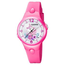Calypso Eenhoorn Horloge Wijzerplaatverlichting 32mm Rozerood