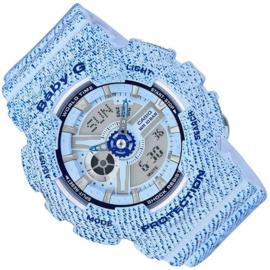 Casio Baby-G Analoog Digitaal Denim Lichtblauw - 5 Alarmen
