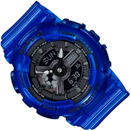 Casio Baby-G Analoog Digitaal Coral Reef Blauw - 5 Alarmen
