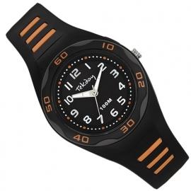 Tekday Horloge met Cijferverlichting 100m Zwart/Oranje