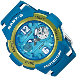 Casio Baby-G World Time Dual Dial Ana-Digi Azuur