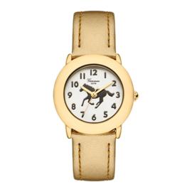 Garonne Meisjes Horloge met Pony Goud 5ATM