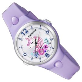 Calypso Eenhoorn Horloge Wijzerplaatverlichting 32mm Lila I