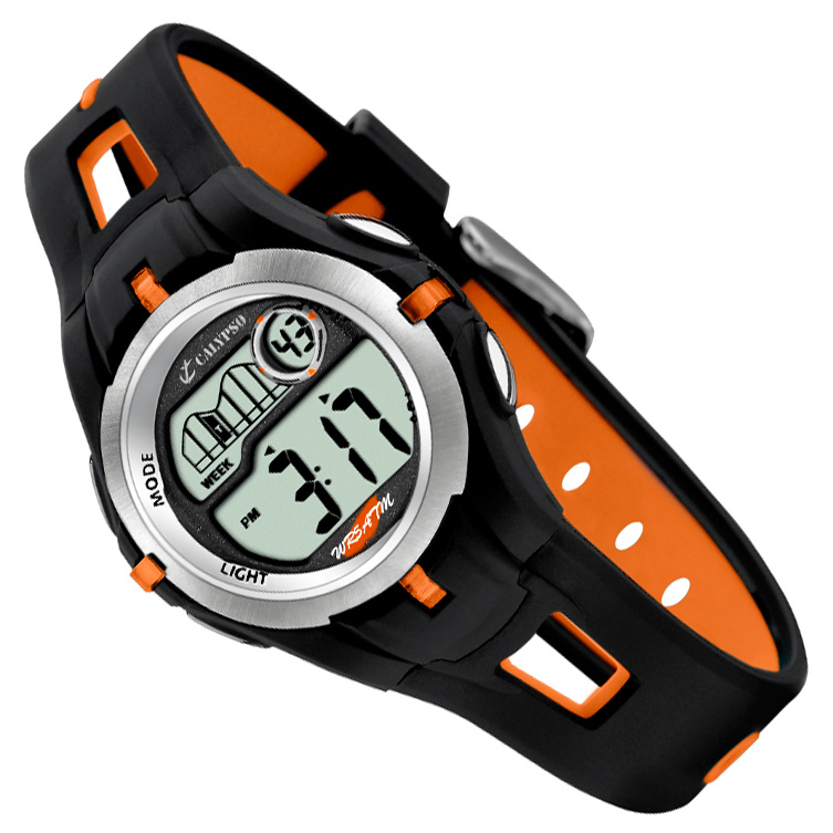 Calypso Digitaal Kinderhorloge Stopwatch Alarm 34mm Oranje